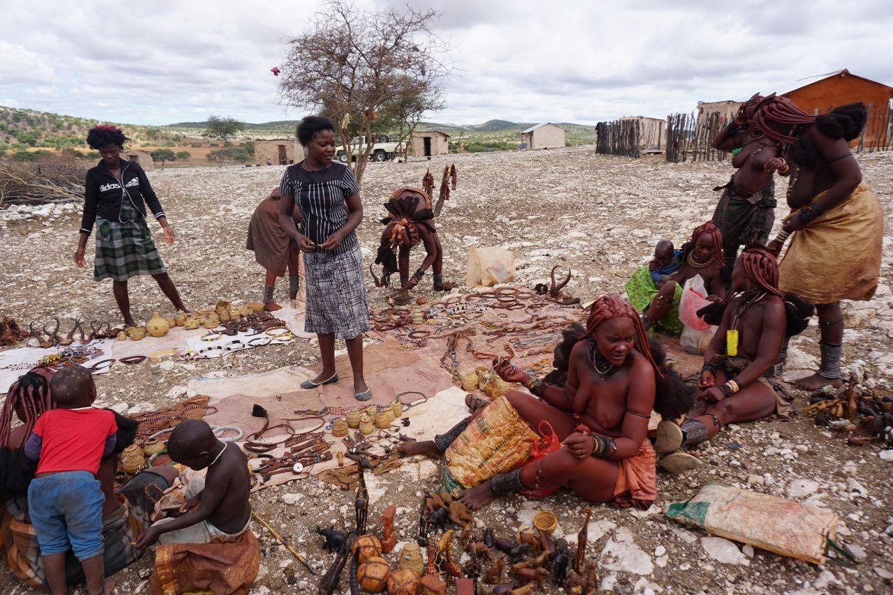 Himba Dorf mit Marius
