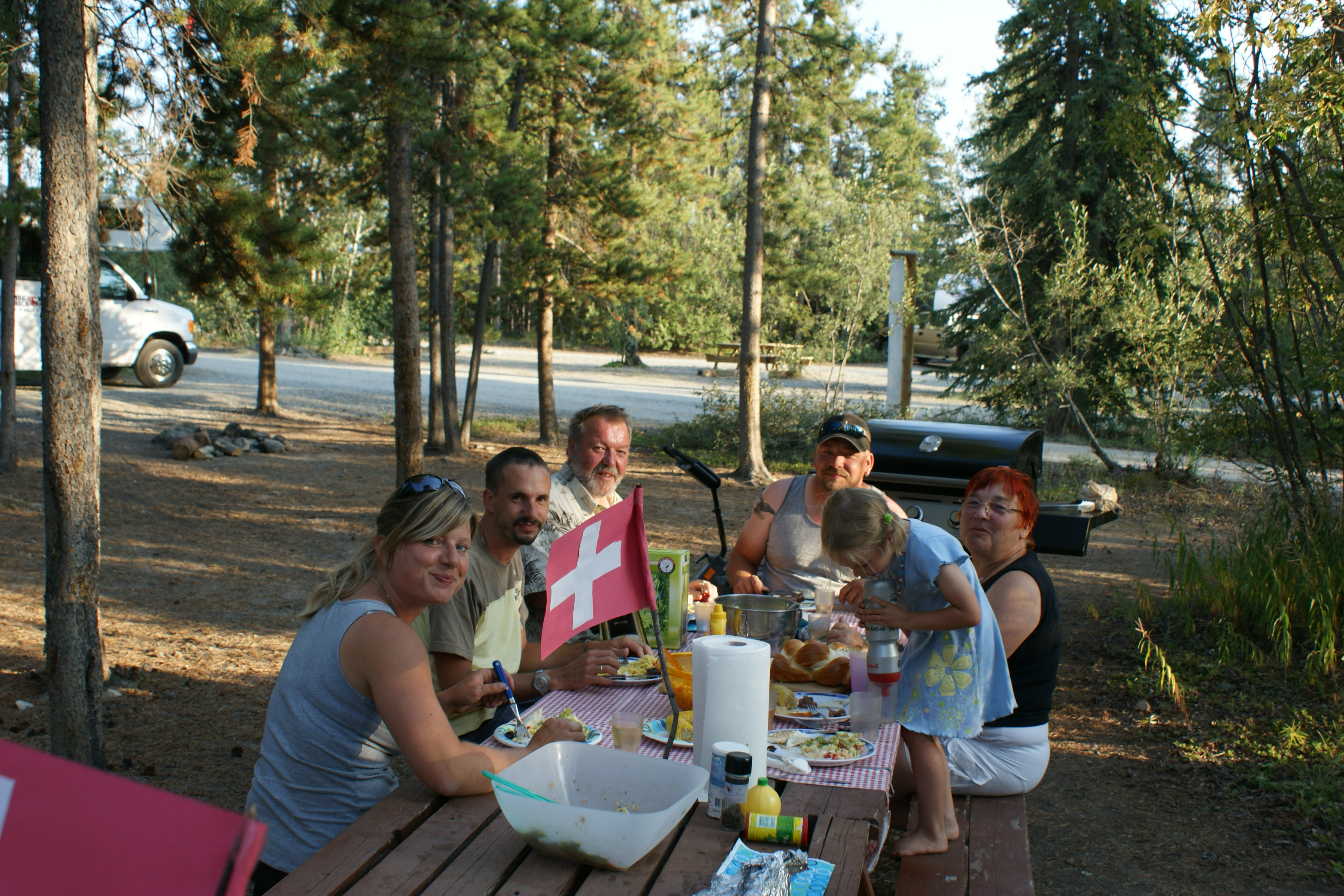 Cariboo Camping Whitehorse, 1. August